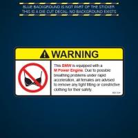 Наклейка на БМВ Warning