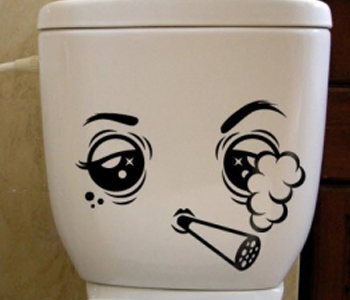 наклейка на туалет - Пыхтун