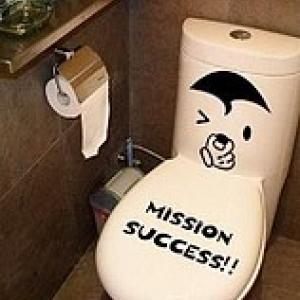наклейка на туалет - Миссия выполнена