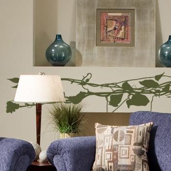 Декоративный узор - виноградная ветка