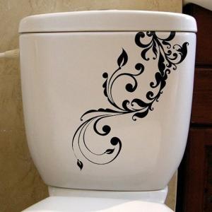 наклейка на туалет - Флора