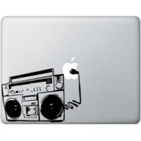 Наклейка на Apple Mac - Магнитофон