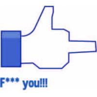 Fuck you, Facebook наклейка