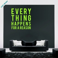 Everything happens for a reason, наклейка