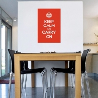 Keep calm, наклейка