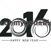 Водоворот времени - Наклейка Новый Год 2016