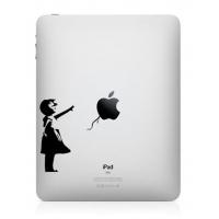 Наклейка на Apple Mac - Девочка с шариком