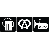 Drink, eat, dance - наклейка к Oktoberfest