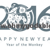 Веселое окружение - Наклейка на Новый Год 2016