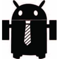 Андроид в галстуке, наклейка
