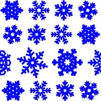 .Снежинки 30/60 шт. - набор новогодних наклеек