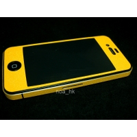 Наклейка на IPhone желтая алмазная крошка