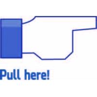 Pull here, Facebook наклейка