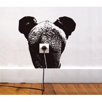 Слон - наклейка на розетку, включатель, выключатель