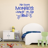 No more monkeys jumping on the bed - наклейка