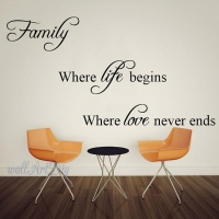 FAMILY where life begins and love never ends - 2 - наклейка