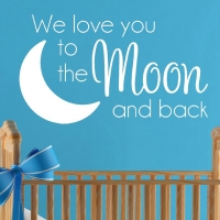 We love you to the moon and back - 2 - наклейка